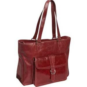 """Clark & Mayfield Stafford Vintage Leather Laptop Tote 17.3"""""""