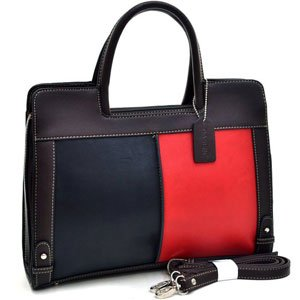 Jackie Color Block Satchel Briefcase