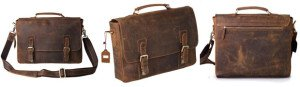 Kattee Vintage Genuine Cow Leather Briefcase Messenger Bag Review