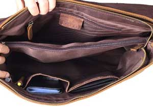 Kattee Vintage Genuine Cow Leather Briefcase Messenger Bag