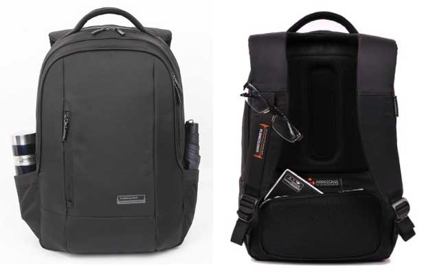 "Kingsons Elite Series 15.4"" Black Waterproof Laptop Backpack"