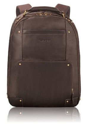 SOLO Vintage 15 Inch Leather Laptop Backpack