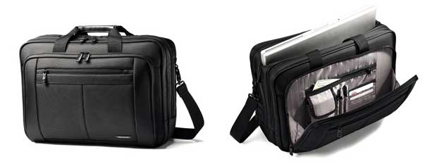 Samsonite Classic Three Gusset Lg Toploader Laptop Bag