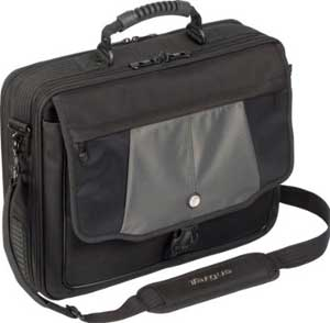 "Targus Blacktop Deluze 17"" laptop case with dome protection"