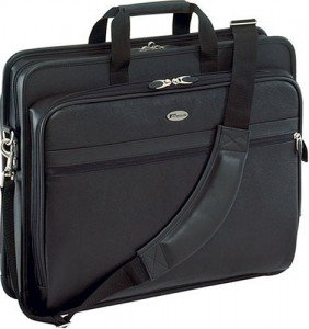 Targus Deluxe Top-Loading Leather Case for 17-Inch Laptops