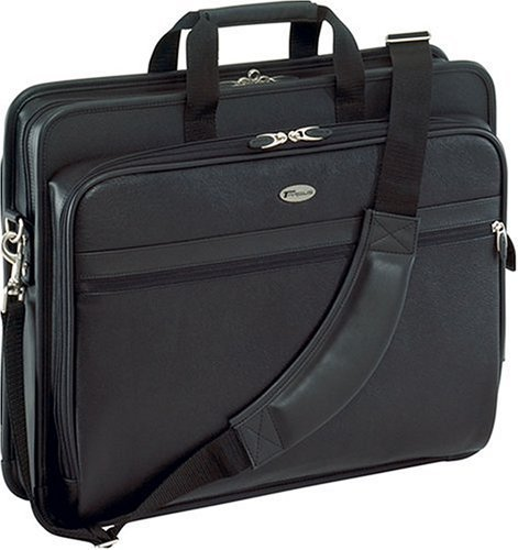 Targus Deluxe Top-Loading Leather Case for 17-Inch Laptops, Black (TLE400)1