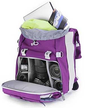 Evecase Canvas DSLR Camera Backpack