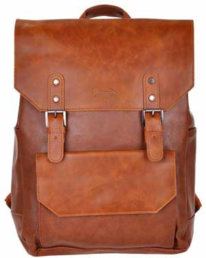 Good&god Pu Leather Laptop Backpack