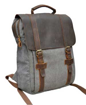 Gootium 30520 Canvas Full Grain Leather Laptop BagPack