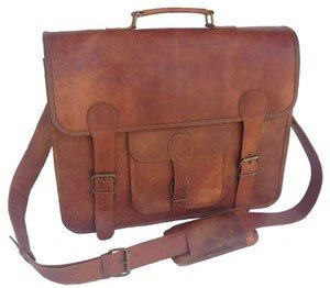 Passion Leather 16 Inch Real Handmade Leather Briefcase Laptop Messenger Bag Satchel