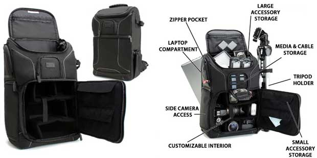 Professional Gear Backpack by USA Gear