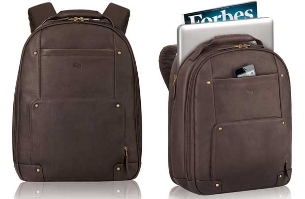 Solo Vintage Colombian Leather Laptop Backpack