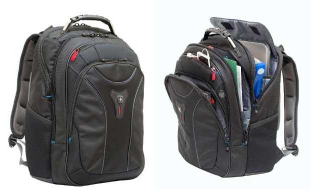 SwissGear Carbon II Black Notebook Backpack-Fits Apple Macbook Pro 15 inch