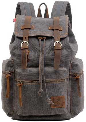 Vere Gloria Men Women Canvas Leather Backpacks
